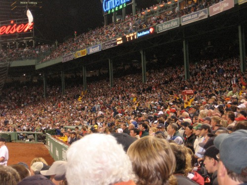 Crowd at a typical Bill Harley concert, er, I mean Red Sox game